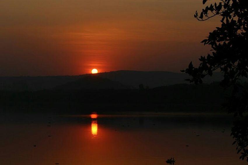 Sunset pashan lake