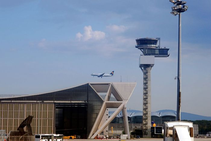Air Vehicle Airport Frankfurt Architecture Building Exterior Built Structure Flying Mode Of Transportation No People Outdoors Sky Transportation