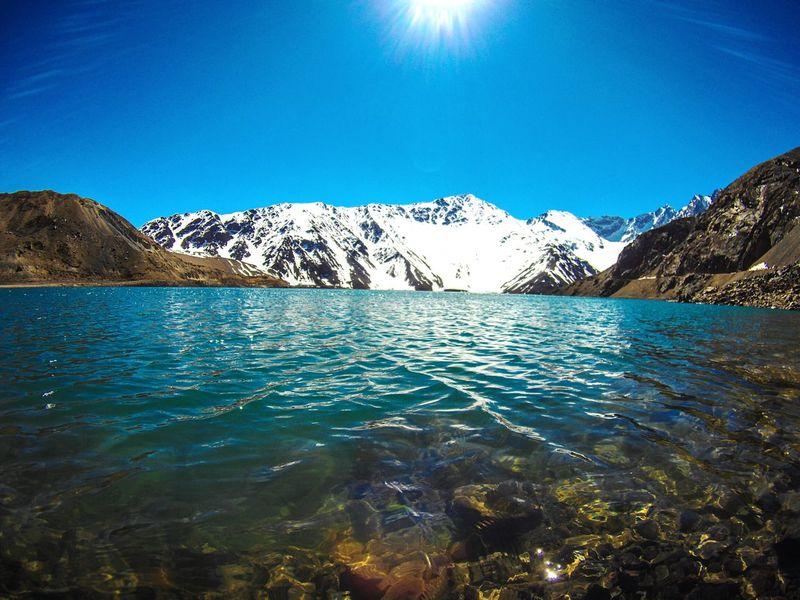 Mountain Lake Outdoors Water Nature Embalse El Yeso Cordillera De Los Andes