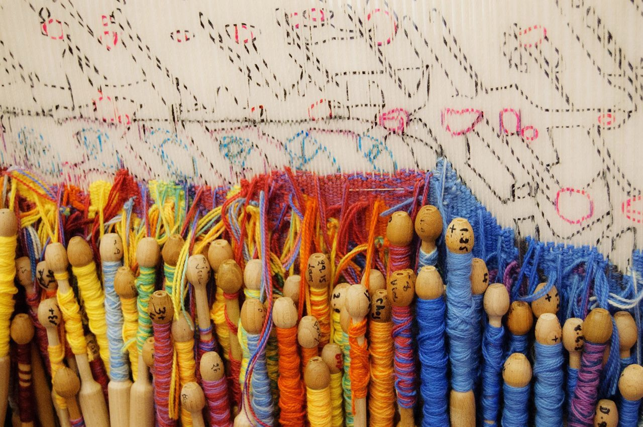 multi colored, no people, art and craft, indoors, text, large group of objects, textile, close-up, creativity, still life, craft, choice, variation, abundance, representation, communication, retail, day, for sale, thread