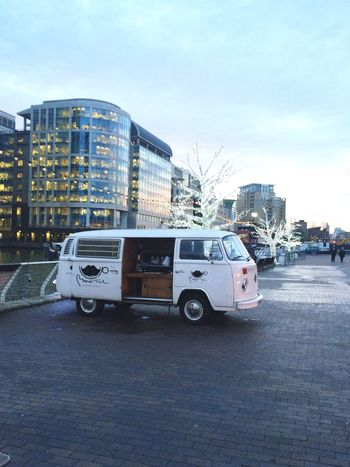 Cute Van River Docklands Sky Lights View Canary Wharf London