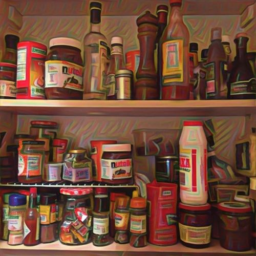 Kitchen Cupboard Condiments  Nutella Identify Shapes Food