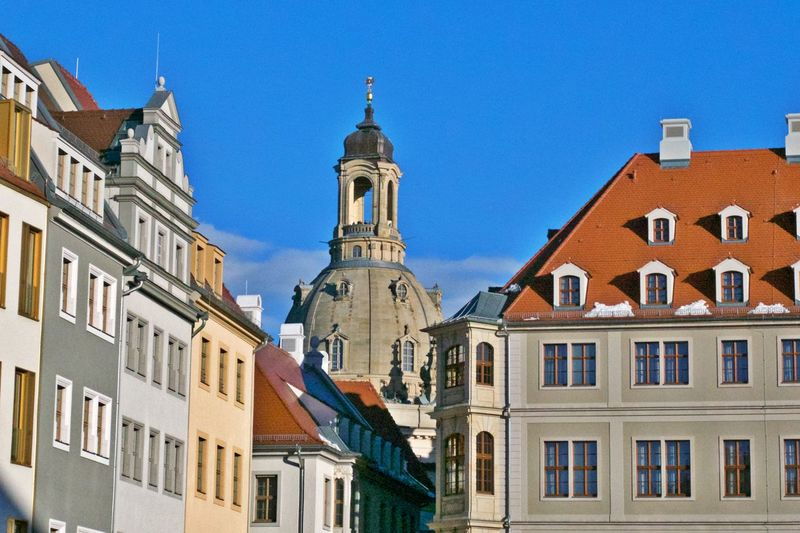 Building Exterior Architecture Building Built Structure Place Of Worship Spirituality Belief Outdoors No People Frauenkirche Dresden