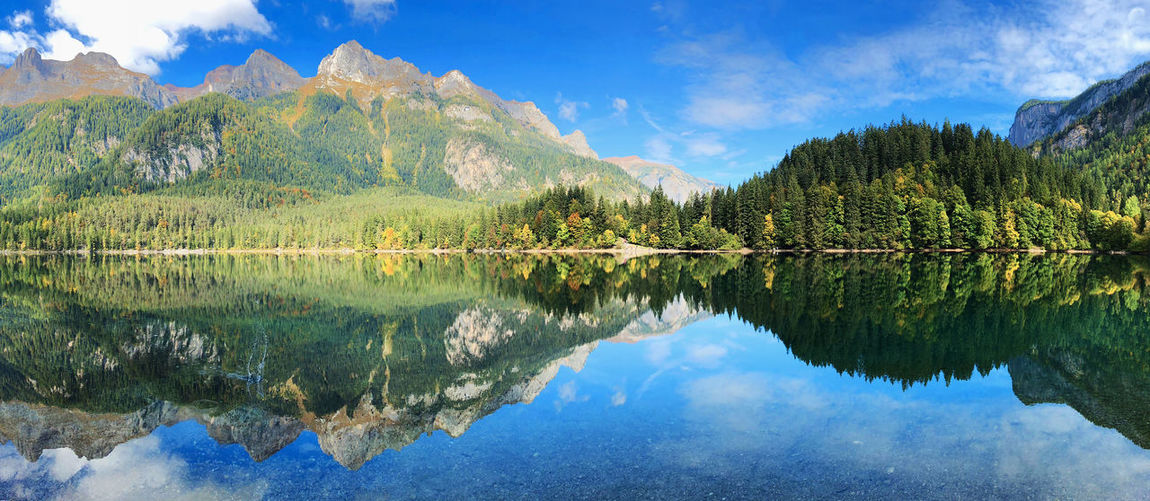 Perfect symmetry Reflection Water Lake Symmetry Scenics - Nature Mountain Tranquility Waterfront Beauty In Nature Cloud - Sky Nature Tranquil Scene Tree Sky Idyllic No People Plant Day Non-urban Scene Mountain Range Outdoors Reflection Lake Lake View Lago Di Tovel Italybeauty