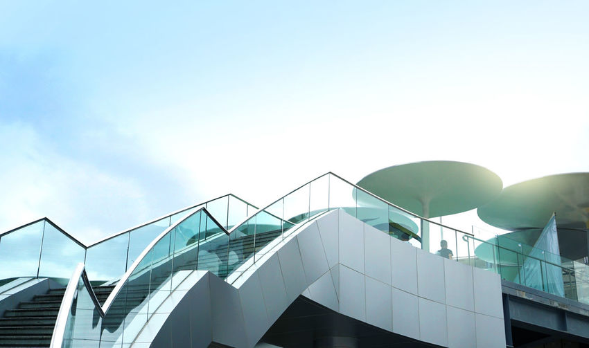 Stairs Architecture Building And Sky Building Exterior Buildings & Sky Outdoors Railing Sky Stair & Sky Staircase Stairways Steps Steps And Staircases