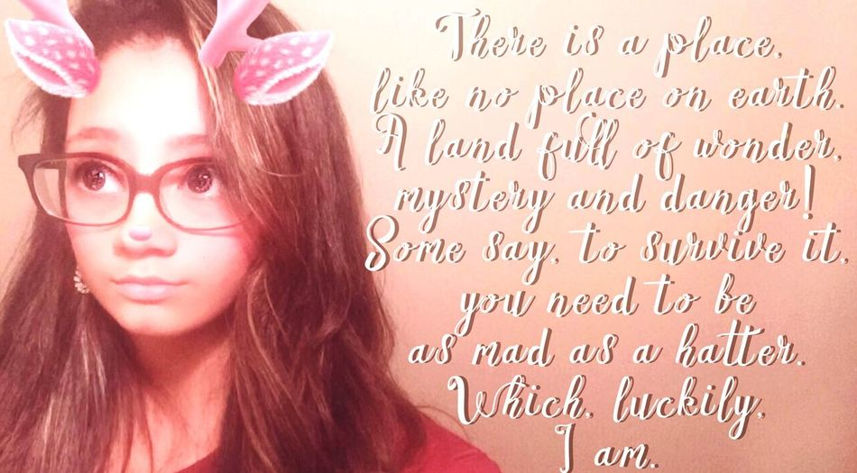 A quote from Alice in Wonderland