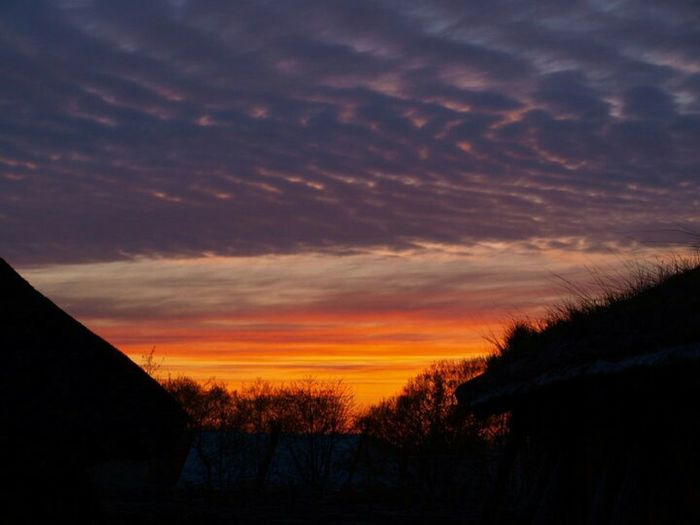 Sky Colorful Contrast Pink Pourple Orange Black