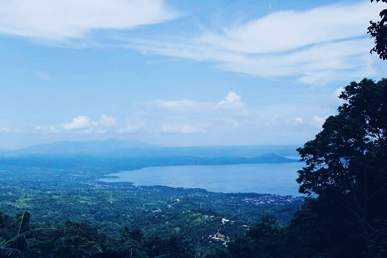 sky, beauty in nature, scenics, day, tranquility, tranquil scene, outdoors, no people, cloud - sky, nature, tree, blue, landscape, mountain