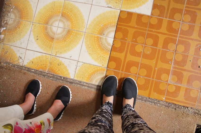 Abondoned Abondoned Buildings Contrast Couple Day Floor Graphic High Angle View Human Body Part Human Leg Lifestyles LINE Old Personal Perspective Shoe Standing Tile Tiled Floor Travel Travel Destinations Traveling Two Two Objects Two People Women Neighborhood Map BYOPaper!