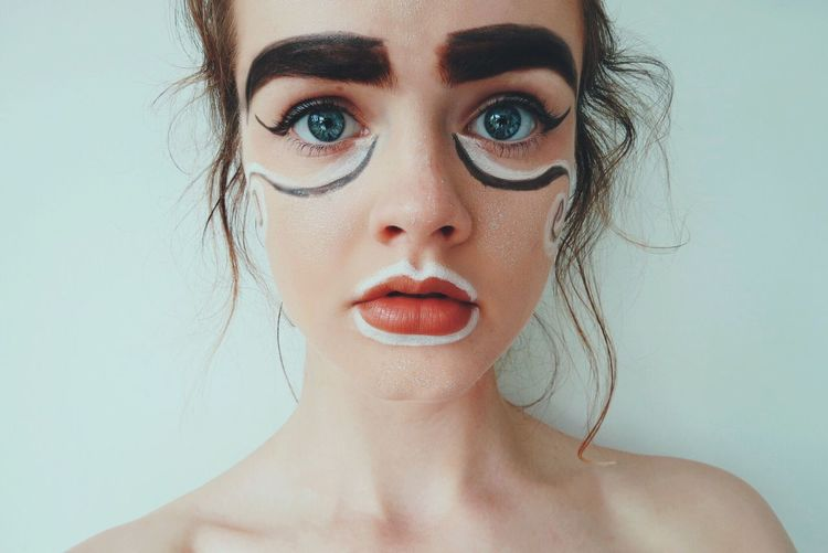 Surreal Surrealism Surrealist Art Surrealistic Makeup Unnatural Beauty Model Woman Girl Colour Color