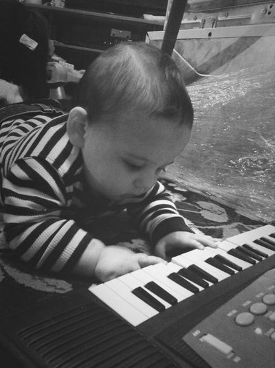 9 Months Old And Already Musically Talented! LovesHisPiano 9monthsAlreadyTalentedMusicTalent