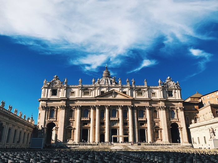 Low angle view of st. peters basilica