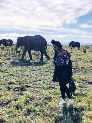 Knysna Elephant Park #Knysna #elephants #WesternCape #Africa #southafrica #walking #clouds  #smiling Full Length Occupation