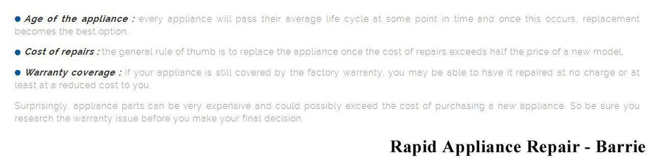 Rapid Appliance Repair 49 High St #406 Barrie, ON L4N 5J4 800-828-0856 Appliance Repair Barrie Appliance Repair Barrie ON Appliance Repair In Barrie Barrie Appliance Repair Barrie ON Appliance Repair