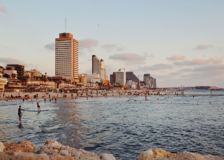 Tel-Aviv Tel Aviv Israel Beach Telaviv Architecture Building Exterior Built Structure Real People Water Sea City Sky Tower Leisure Activity Lifestyles Outdoors Vacations Men Nature Skyscraper Day Urban Skyline מייתלאביב מייקנון Adapted To The City Neighborhood Map