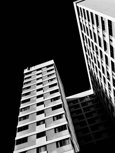 EyeEmNewHere Architecture Minimalism Blackandwhite Building Exterior Architecture Built Structure Skyscraper City Low Angle View Modern Window City Life Apartment Building Story Outdoors Day No People Cityscape Sky Rethink Things EyeEm Ready   The Graphic City Visual Creativity The Architect - 2018 EyeEm Awards The Traveler - 2018 EyeEm Awards The Creative - 2018 EyeEm Awards
