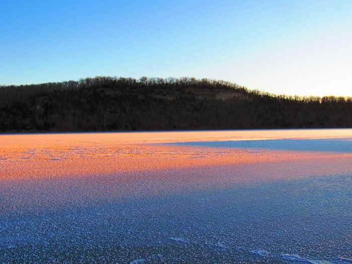 Ice Crystals Lake New Years Day Lake Of The Ozarks. Frozen Sunrise Nature Outdoors No People Beauty In Nature