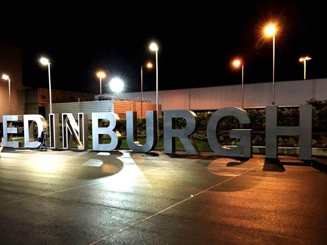 Being a tourist Street Light Edinburgh