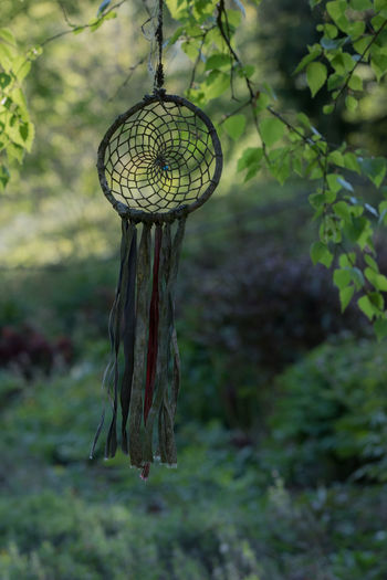Wind Chime Plant Focus On Foreground Growth Hanging Tree Art Tranquility Green Color Beauty In Nature Forest Branch Belief Spirituality Dreamcatcher Pattern Handmade Handcraft Parc The Minimalist - 2019 EyeEm Awards The Minimalist - 2019 EyeEm Awards