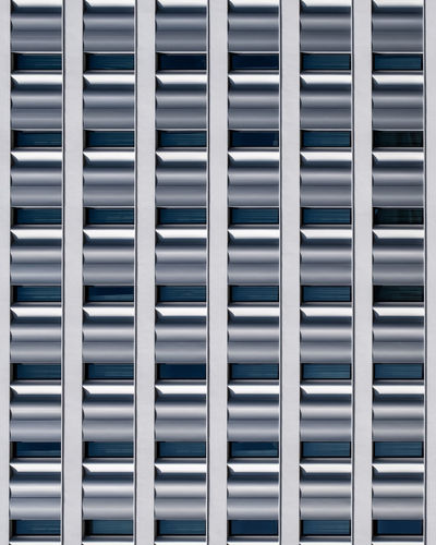 Facade Architecture Built Structure Full Frame No People Repetition Pattern In A Row Backgrounds Window Fujix_berlin Ralfpollack_fotografie Minimalism Minimalist Photography  Metal Blue Side By Side Day Outdoors Textured  Building Exterior Building
