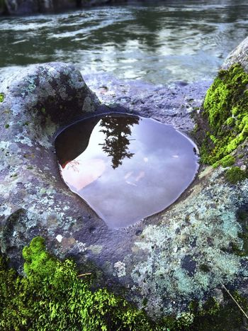 Water Reflection Nature No People Outdoors Tranquility Beauty In Nature Close-up Scenics Views Natural Condition Shapes In Nature  Weathered Abstractions Perspective Abstract Nature (null)View Moss Stone Scenic Patterns In Nature Landscape Backgrounds Tranquil Scene