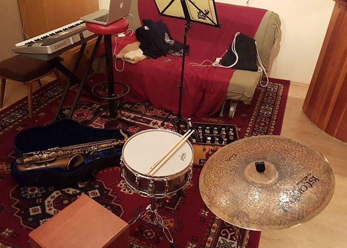 Jamsession Schlagzeug Klavier Saxophon Jazz Jamminon2016 MakinJazz Beihannesalleinzuhaus Pearldrums Istanbulmehmet Turk