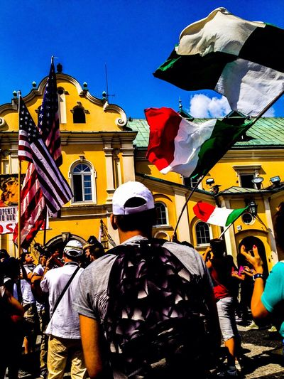 People Together at JMJ 2016 at Cracow Italy Flag First Eyeem Photo