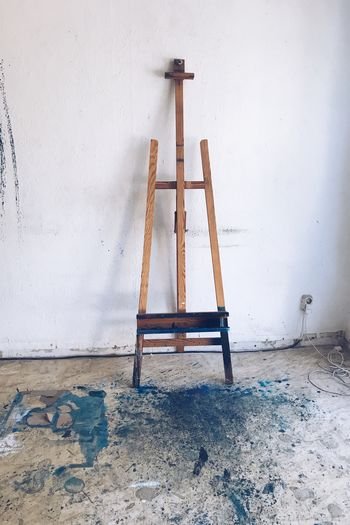 EyeEm Selects Work in Progress II Easel Second Acts Still Life Atelier Gallery Painting Contemporary Art Art Indoors  Wood - Material Built Structure Destruction EyeEm Gallery Be. Ready.