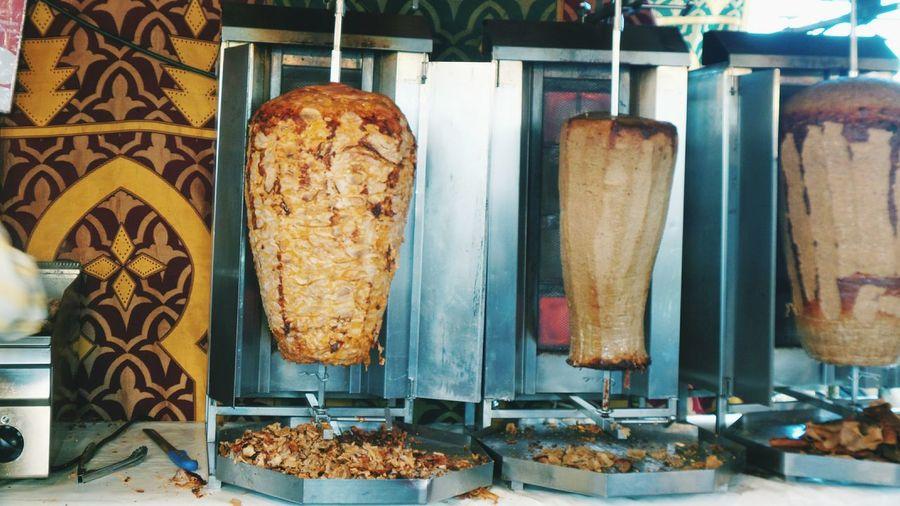 Doner Kebab Being Grilled
