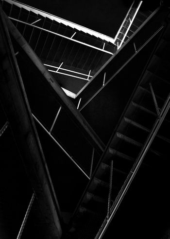 Abstract Photography Architecture Architecture_collection Stairs Stairs & Shadows Abstract Architectural Detail Architecture Architecture_bw Architecturelovers Bnw_captures Bnw_life Built Structure Light And Shadow Low Angle View No People Stairways