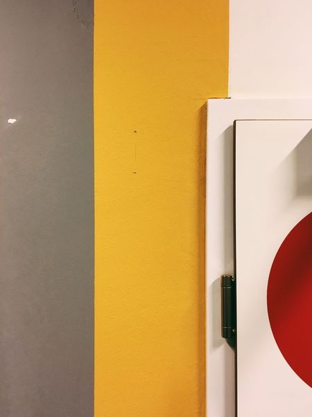 Yellow Architecture Built Structure Door No People Day Close-up Colorblocking