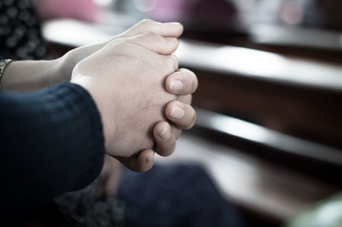 Appeal Pray Close-up Human Hand Indoors  People Religion Request