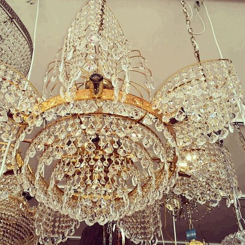 Chandeliers Goldplated Design Light lamp decor art اناره ثريات_كرستال تصميم_داخليكريستال_طيبهمساجدافراح