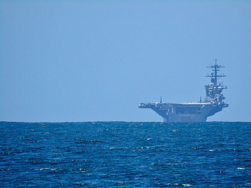 Pacific Ocean Ocean US Navy Aircraft Carrier Nautical Vessel Boat Ship Military California At Coronado