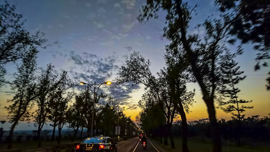 Car Close-up Cloud - Sky Day Land Vehicle Mode Of Transport Nature No People Outdoors Sky Sunset Transportation Tree
