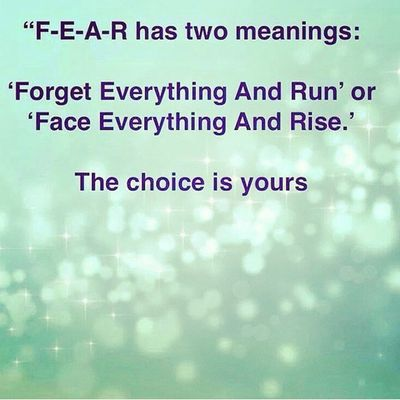 The choice is yours Fear