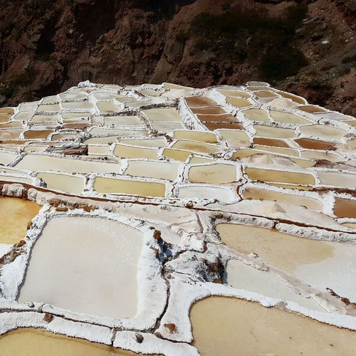 Day Outdoors No People Non-urban Scene Tranquility Saltlife Salt Flats Peru Tourism Beauty In Nature Photooftheday Salt Saltwater Maras Maras - Peru Investing In Quality Of Life
