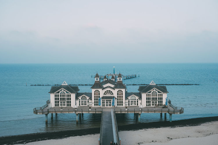 Ostsee Seebrücke Strand Winter Architecture Beach Beauty In Nature Building Exterior Built Structure Cold Day Horizon Over Water Nature No People Outdoors Scenics Sea Seebrücke Sellin Sky Tranquility Water