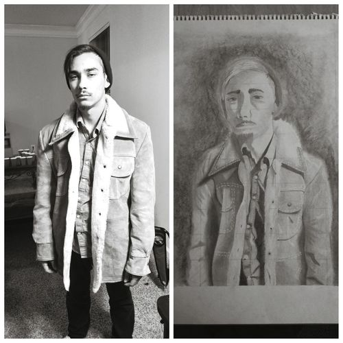My most proud Drawings Self Portrait Graphite Black & White Shading  Art Project Art Major Stoned Beer Pong in the back Great Night Its All In The Details A Night With Friends