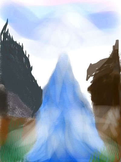 One of my digital art paintings. -Fantasy, Enlightenment