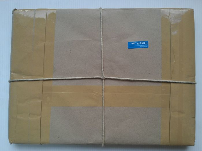 brown envelope supplies with airmail priority sticker. Sending and receive product via airmail concept Gift Box Receive Sending Airmail Brown Gift Gifts Gifts ❤ Paper Product Text
