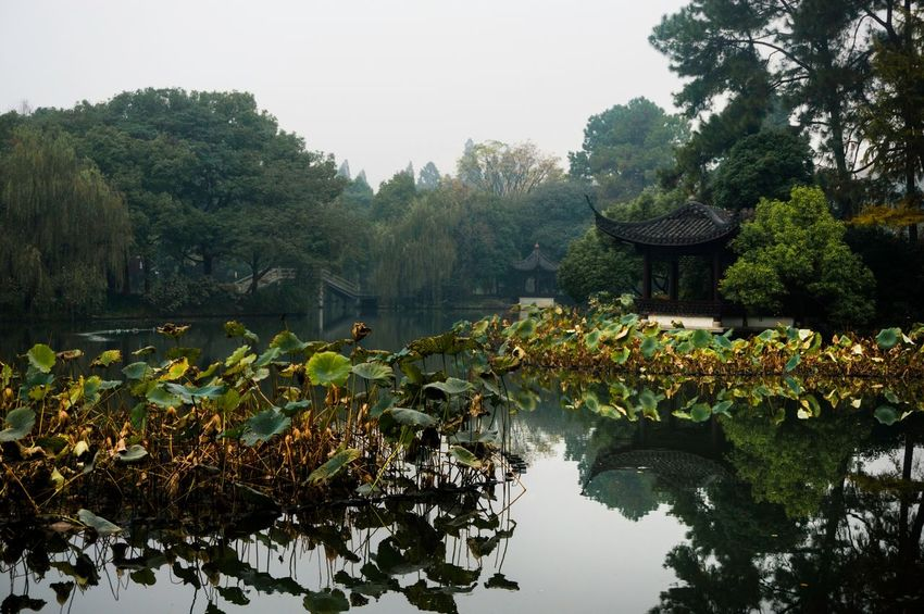 My Country In A Photo Hangzhou,China XiHu Lake Water Reflections Architecture
