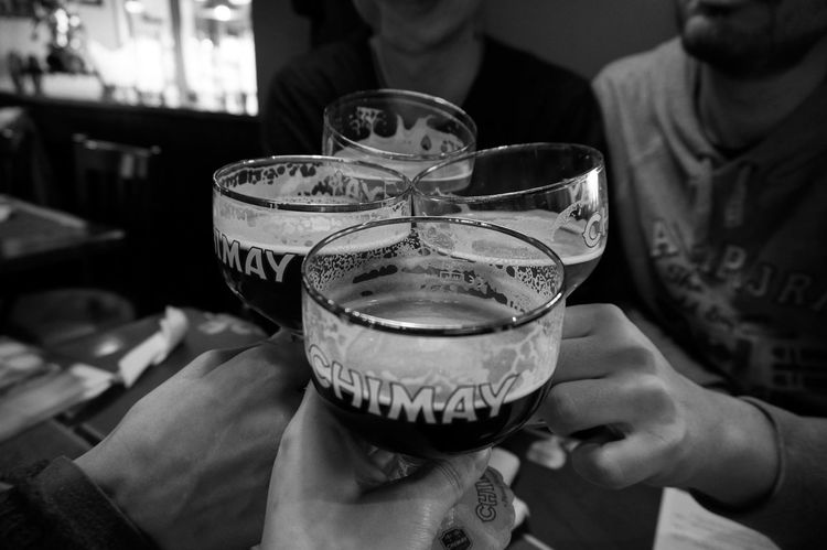 Some bnw series of a trip in Belgium . Human Hand Drink Drinking Glass Human Body Part Celebration Food And Drink Alcohol Close-up Beerlover Beer Time Blak And White Blackandwhite Photography Bnw_captures Bnw Photography Macrophotography Bnw_collection Macro_collection Chimay Beer Trappistine Convent Trappist Trappistbeer Text Brugge Belgium Be. Ready. Black And White Friday Summer Exploratorium
