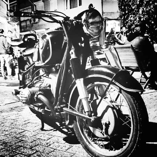 BMW Black And White Motorcyle