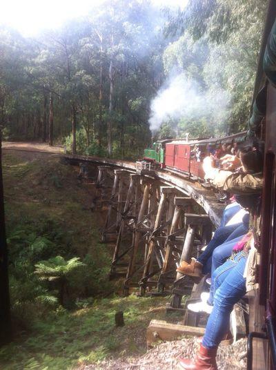 Puffing Billy Bridgeporn Trainporn Steam Trains Historical