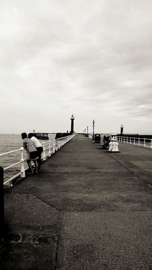 Pier Walking Around Whitby View Whitby Whitby North Yorkshire Blackandwhite Photography Blackandwhite Sky Cloud - Sky