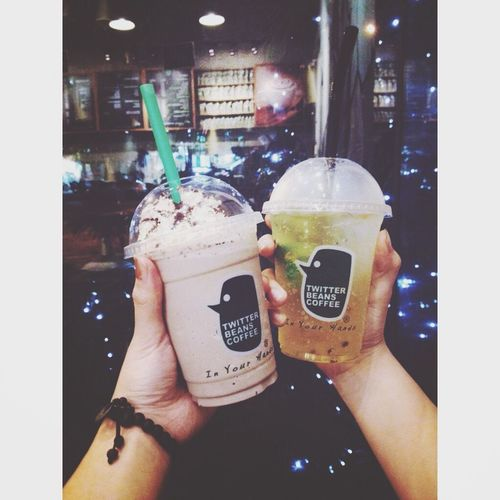 Food matcha jelly and passion mojito Drinks