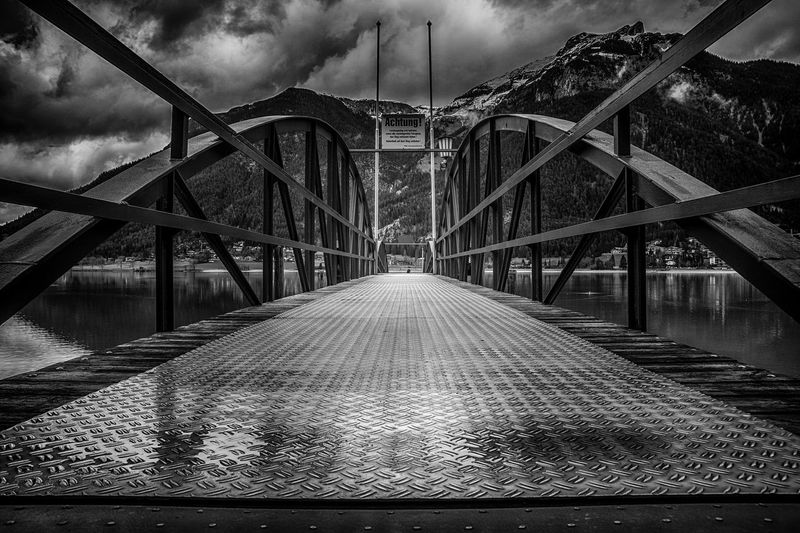 Bridge - Man Made Structure The Way Forward Built Structure Outdoors Connection Travel Destinations Cloud - Sky Sky Architecture City Suspension Bridge Day No People Elevated Walkway hello world EyeEmNewHere