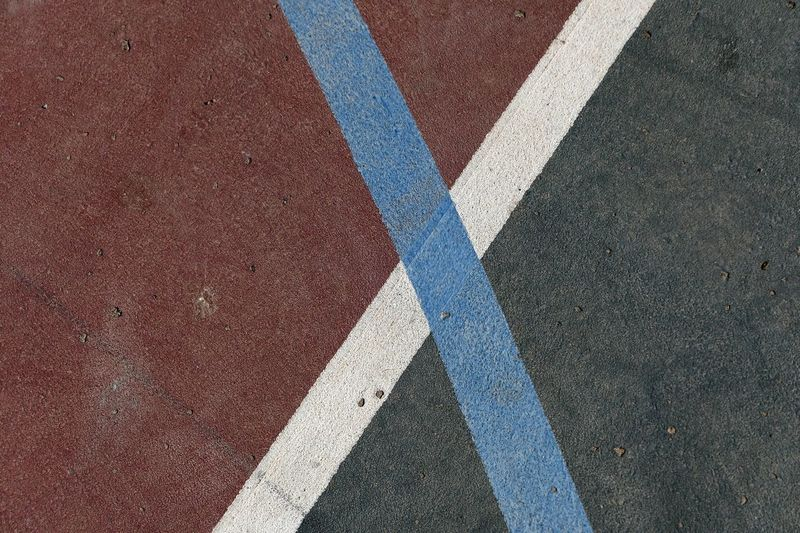 Directly above shot of marking