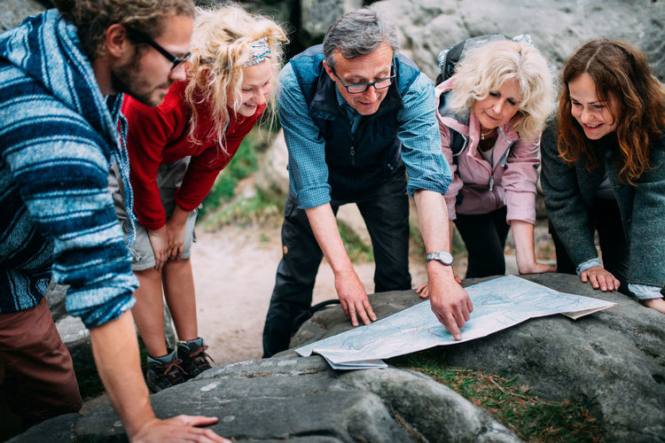 Adventure Explore Family Fun Group Of People Hike Hiking Hiking Trail Hikingadventures Hobby Holiday Kids Map Mature Adult Mountains Outdoor Recreation Outdoors People Quality Time Rocks Route Senior Tourism Trail Vacations